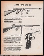 1987 Thompson 1927A1 M1 & 1911A1 Carbine, 1927A5 Pistol AD Advertising