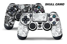 Dual Skin Sticker Wraps 2 Pack PS4 Playstation 4 Remote Controller Decals SKULL