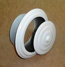 CHIMNEY STOVE PIPE FLUE HOLE COVER WALL ROSETTE COLLAR CAP 130mm / 5.2'' WHITE