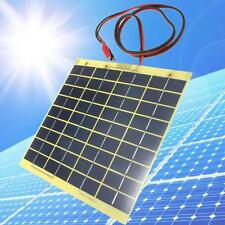 Solar Cell Panel 5 Watt 12Volt For Car Battery Trickle Charger Backpack Power FB