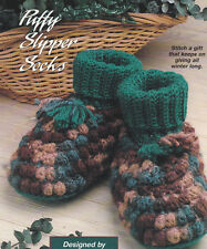 Crochet Pattern ~ CHILDS PUFFY SLIPPER SOCKS ~ Instructions