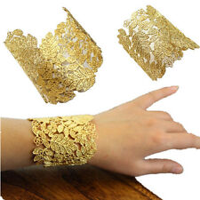 Punk For open Bracelets Gold Plated Bangles Jewelry Hollow cuff bangle Bracelet