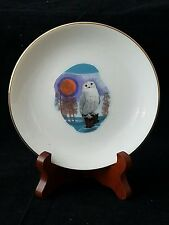 "SKEMO INUIT ESKIMO VILETTA CANADA ART 5"" OWL DESIGN PLATE ELEANOR/TONY PAINE 924"