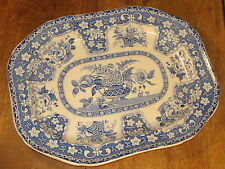 Antique Gergian Period Filigree Design Large Meat Platter Serving Plate C1830