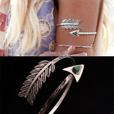 Vintage Bohemian Upper Arm Bracelet Arrow Open Bangle Armlet Arm Cuff Fashion