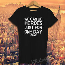 DAVID BOWIE T-shirt BLACKSTAR WE CAN BE HEROES LOVE STAR Top T shirt Gift Tee
