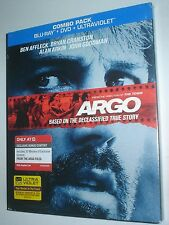 ARGO BLU-RAY + DVD, NEW & SEALED, BEN AFFLECK OSCAR WINNER, WITH ALAN ARKIN