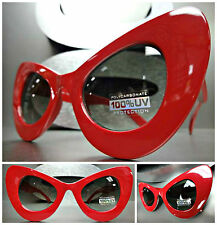 New CLASSIC VINTAGE RETRO 60's CAT EYE Style SUN GLASSES Unique Thick Red Frame