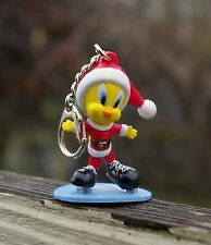 Tweety Bird Santa Claus Ice Skating Christmas Holiday Keychain Warner Bros.