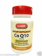 Leader Co Q10 Vitamin Capsules 200 mg 30ct 096295117660