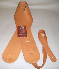 LAKOTA LEATHERS Soft, Thick BISON Leather Guitar /Bass Strap Lakota Sioux SA 3""