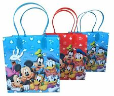 (12ct) Disney Mickey Mouse & Friends Birthday Goody Gift Loot Favor Bags Party