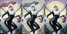 AMAZING SPIDERMAN 25 ARTGERM COMICXPOSURE VIRGIN 3 PACK VARIANT SET BLACK CAT