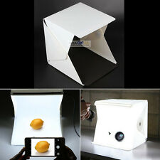 "Light Room Photo Studio 9"" Photography Lighting Tent Kit Backdrop Cube Mini Box"