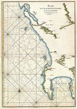 MAP ANTIQUE 1752 DE LA HAYE CAPE GOOD HOPE MARITIME REPLICA POSTER PRINT PAM0212