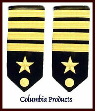 US NAVY HAR SHOULDER BOARDS FO CAPTAIN RANK PAIR  Hi Quality - Authentic CP MADE