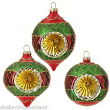 RAZ Glittered Indent Reflector Christmas Ornaments Night Before nb 3520020 NEW