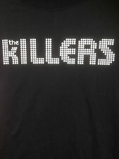 THE KILLERS  PRINTED ON FRONT AND LOGO BACK  BLACK SHORT SLEEVE COTTON