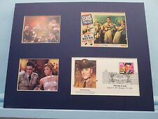 "Elvis Presley in ""GI Blues"" and First Day Cover of the Elvis Presley stamp"