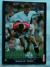 1997/98 Bolton Wanderers v Manchester United Premier League