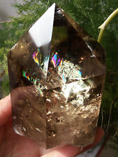Rainbow! Huge Natural Citrine Quartz Crystal Smoky Transparent Point Healing