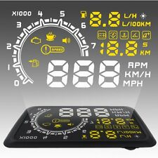 """W02 5.5"""" Car HUD Vehicle Head Up Display KMH MPH Voltage Overspeed Warning New"""