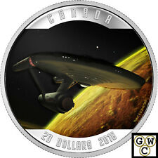 2016 Star Trek(TM)  Enterprise Color $20 Prf Silver Coin 1oz  Fine(NT)(17689)