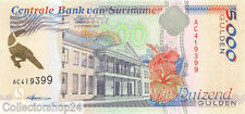 Suriname 5000 Gulden 1997 Unc Pn 143a