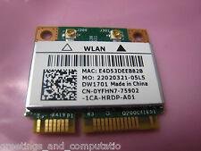 Dell Wireless Wifi Card DW1701 YFHN7 PCI-e Half 802.11N Bluetooth 3.0 n5040 15r