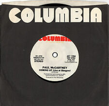 PAUL McCARTNEY coming up - live at glasgow 45RPM one-side US PROMO w/CS