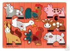 MELISSA & DOUG WOOD FARM MIX & MATCH PEG PUZZLE #3267