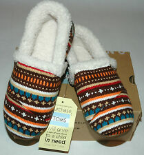 TOMS Youth Slipper Earth Woolen Fair Isle Youth Size 5