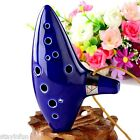 Ocarina Ceramic 12 Holes Alto C Flute Legend of Zelda Blue Instrument Excellent