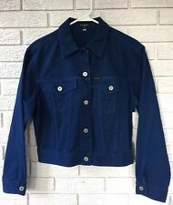 •GUESS• Women's Jean Jacket  Blue NWT Sz Med LS Button Down USA Nice!