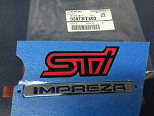 "NEW Genuine OEM Subaru Rear Badge Set "" STi Impreza "" 2006 2007 WRX STi Genuine"
