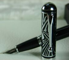 Duke zebra PATTERN engraved cap cloisonne Technology fountain pen