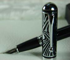 Duke zebra PATTERN engraved cap cloisonne Technology fountain pen