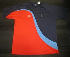 ☆FLAWLESS Authentic 2003 US OPEN Tennis Shirt by FILA Size MEDIUM - Andy Roddick