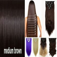 US Remy Extra Thick Clip in Hair Extensions 8Piece Full Head As Human Tape cw865