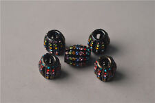 3pcs Mixed Colors Crystal Rhinestone Metal Rondelle Spacer Beads 13.5x16mm