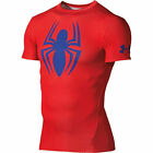 New Under Armour Men's Alter Ego SPIDERMAN Compression SS Shirt Choose Size Red