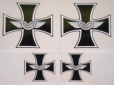 Aufkleber 4 Stück EK Eisernes Kreuz Luftwaffe 9,3 cm 2x 5,5cm .........AU008