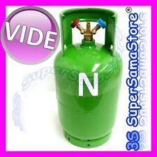 3S BOUTEILLE VIDE 12 LT Double vanne de Récupération gaz Réfrigérant R410A R134A