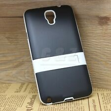 Mix Hard Soft Rubber Cover Case + Film For Samsung Galaxy Note 3 Neo SM-N7505 a