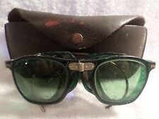 Vintage  Folding Safety Welding Glasses Goggles with Mesh Sides