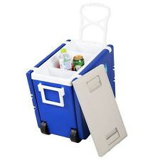 Outdoor Multi Function Rolling Cooler With Table And 2 Chairs Picnic Camping US
