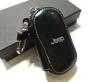 1Pcs Best Black Leather Auto Remote Key Bags Case Holder Cover For Jeep Cherokee