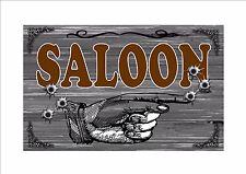 Wild West Cowboy Saloon Bar Estilo Vintage Retro Letrero De Metal Sign pub, Sedán signo
