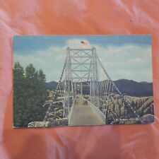 Vintage Postcard Vista Of The Suspension Bridge Royal Gorge Canon City, Colorado