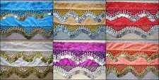 Wholesale 6 High Quality Handmade Belly Dance Hip Scarf Coin Belt..Petite Style